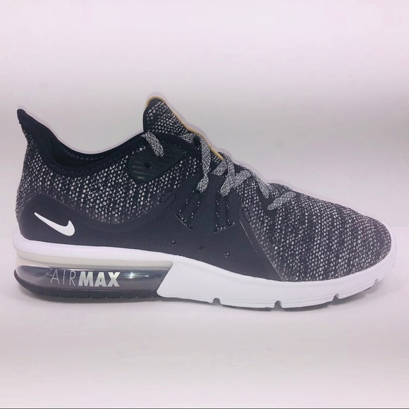 Womens Nike Air Max Sequent 3 Black Sneakers NWT